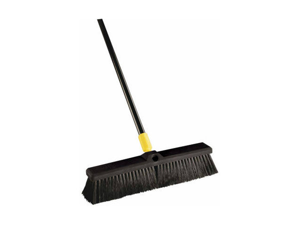 Quickie® BULLDOZER® 00523 Soft-Sweep Indoor/Outdoor Pushbroom, 18""