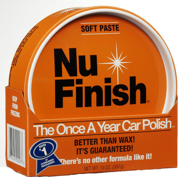 Nu Finish® NF-76 The Once-A-Year Car Polish, Soft Paste, 14 Oz