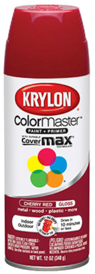 Krylon K05210102 ColorMaster™ Spray Enamel Paint & Primer, 12 Oz, Cherry Red