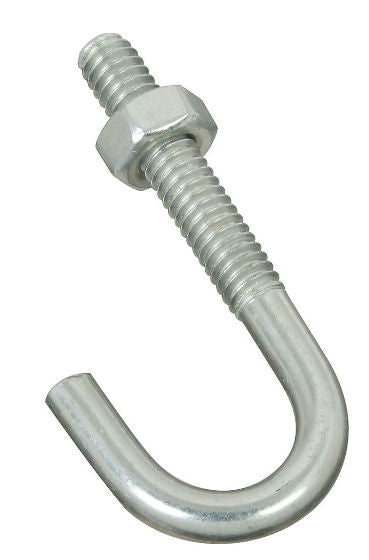 "National Hardware® N232-884 Steel J-Bolt, 1/4"" x 2-5/16"", Zinc Plated"