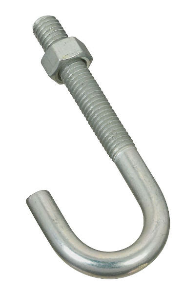 "National Hardware® N232-942 Steel J-Bolt, 3/8"" x 3-3/4"", Zinc Plated"