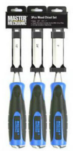 Master Mechanic 519754 Bi-Material Wood Chisel Set, 3-Piece
