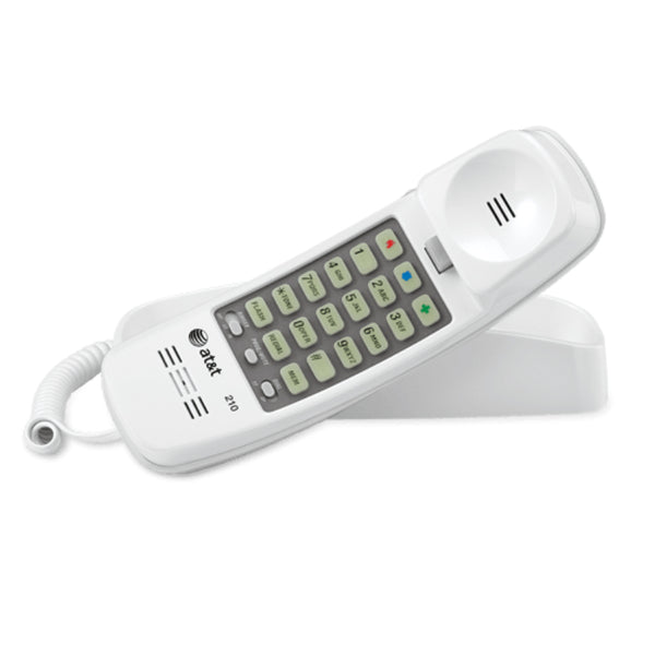 AT&T® 210-WHT Trimline® Corded Telephone, White