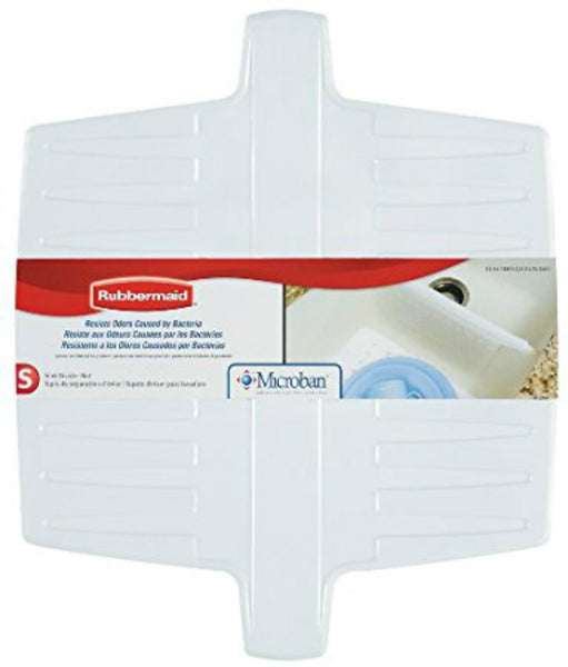 Rubbermaid® 1297-AR-WHT Microban® Flexible Sink Divider Mat, White