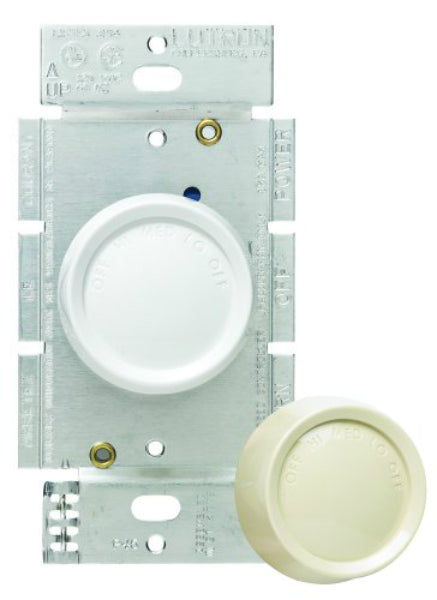 Lutron® FSQ-2FH-DK Rotary Quiet 3-Speed Fan Control, 1.5 Amp