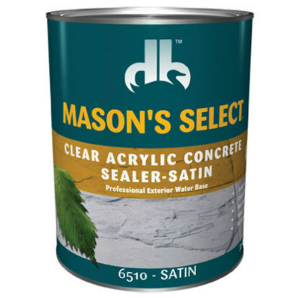 Mason's Select® DB0065103-14 Clear Acrylic Concrete Sealer, Clear Satin, 1 Qt