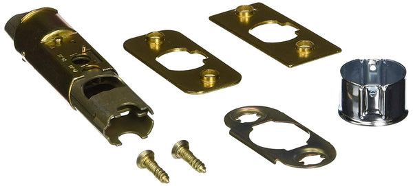 Kwikset 1825-18-CP 6-Way Adjustable Deadlatch, Polished Brass