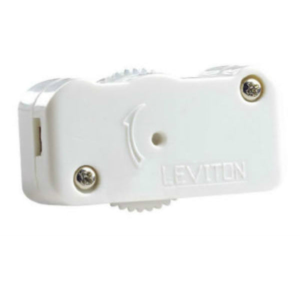 Leviton® L02-01420-00W Cord Dimmer with 3-Position (High/Low/Off), 200W, White