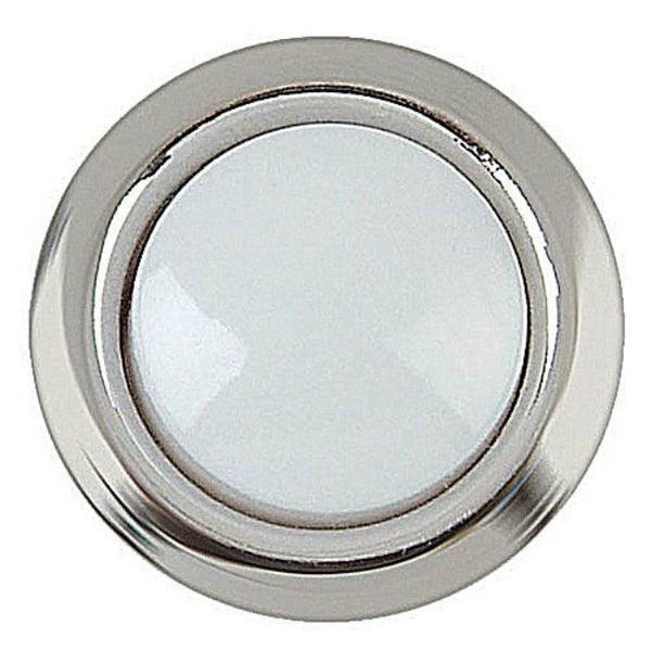 Carlon DH1201L Wired Round Push Button with Silver Rim, Lighted White