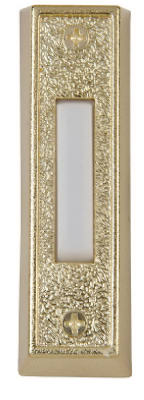 Carlon DH1405L Lighted White And Gold Push Chime Button