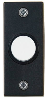 Carlon DH1824 Push Chime Button, Black And White