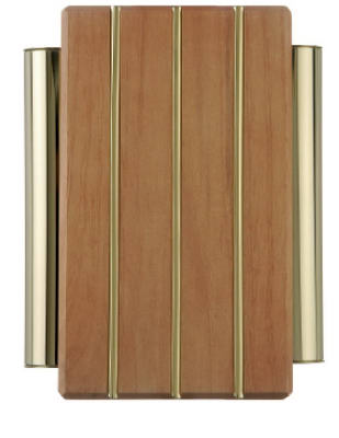 Carlon DH506 Wired Wood Chime With Gold Finish Tubes