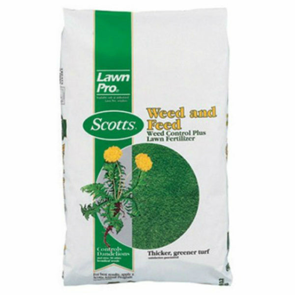 Scotts 51105 LawnPro Weed & Feed Weed Control Plus Lawn Fertilizer, 5000 Sq.ft.