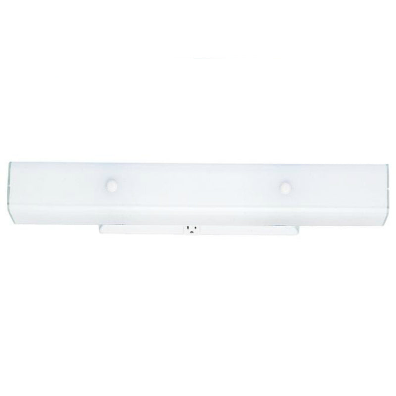 Westinghouse 66424 4-Light Wall Bracket w/Ground Convenience Outlet,White Finish