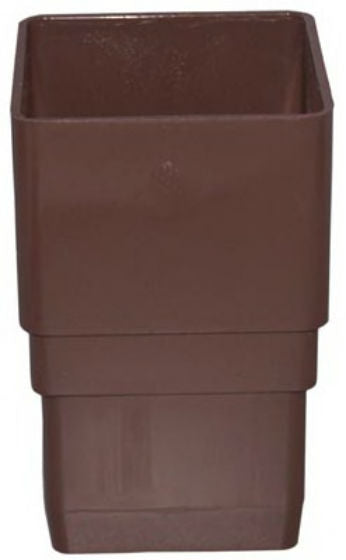 Genova RB203 Vinyl Downspout Coupler, Brown