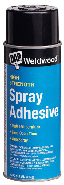 Dap® 00121 Weldwood® High Strength Spray Adhesive, 16 Oz, Clear