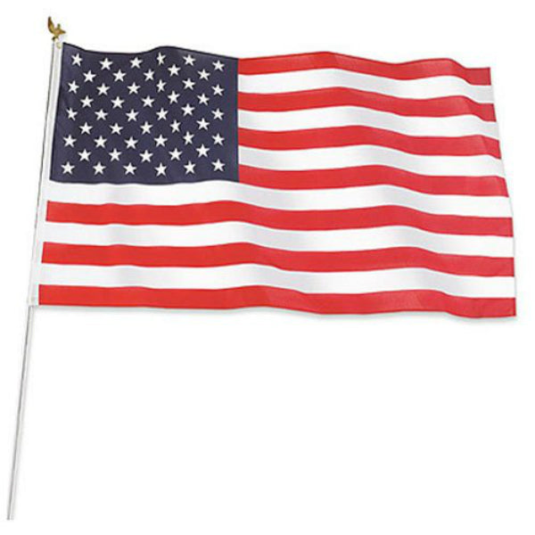 Annin Flagmakers 011320R Polycotton US Flag Kit, 3' x 5'