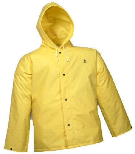 DuraScrim™ J56107-LG Jacket with Attached Hood, Large, Yellow