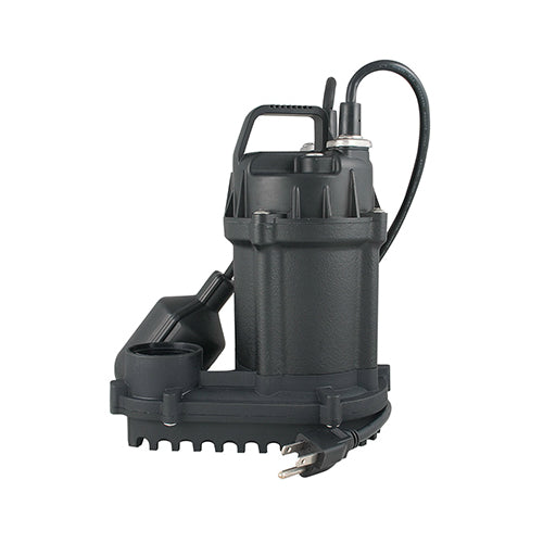 Master Plumber 540494 Cast Iron Sump Pump with Tethered Float Switch, 1/3 HP