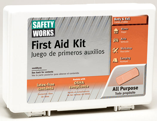 MSA Safety Works® 10068529 All-Purpose Convenient Travel First Aid Kit, 62-Piece