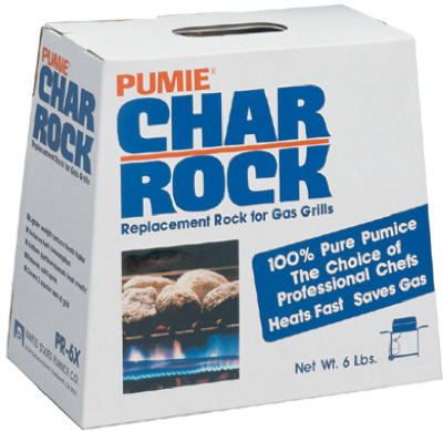 Pumie® PR-6 100% Pure Natural Pumice Char Rock for Gas & Electric Grills