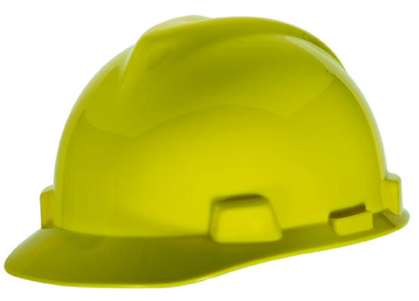 MSA Safety Works® 818068 Adjustable Suspension V-Gard® Hard Hat, Yellow