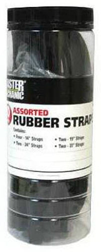 Master Mechanic MM58 EPDM Rubber Strap, Assorted Sizes, 10-Piece