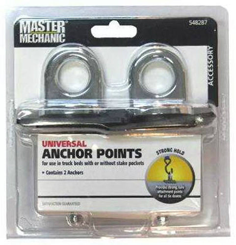 Master Mechanic MM61 Universal Anchor Point, Chrome, 2-Pack