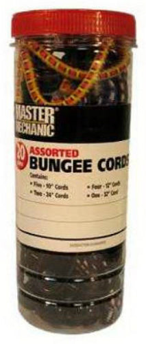 Master Mechanic MM42 Bungee Cord, Assorted, 20-Piece