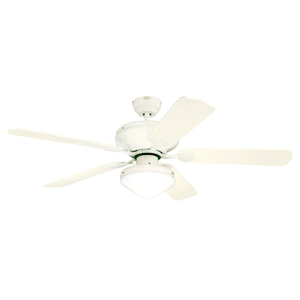 "Westinghouse 78096-6548 Verandah 5-Blade Outdoor Ceiling Fan, 52"", White"