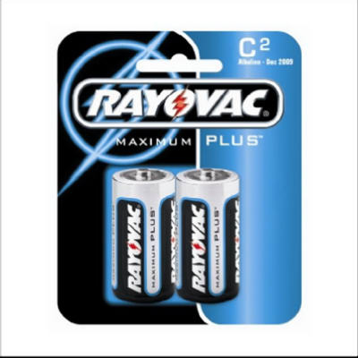 "Rayovac 814-2 Size ""C"" Alkaline Battery, 2 Pack"