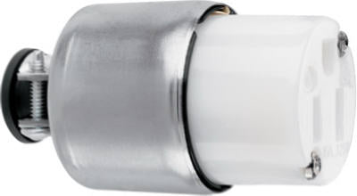 Pass & Seymour Armored Connector, 20A, 125V, White