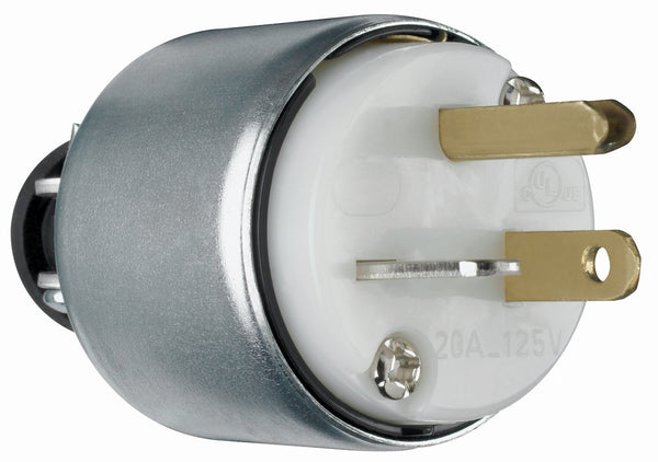 Pass & Seymour PS520PACC20 Armored Plug, 20A, 125V, White