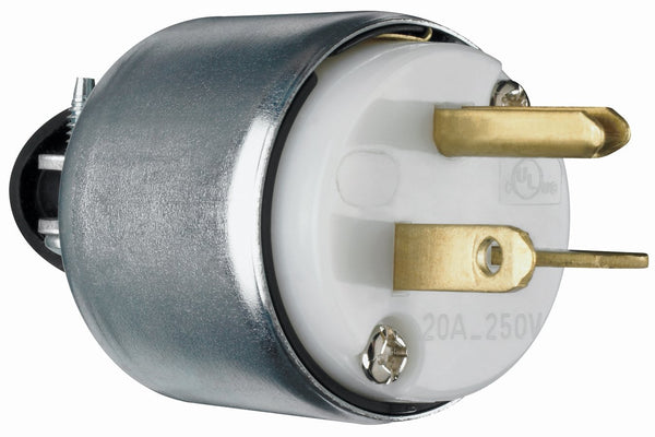 Pass & Seymour PS620PACC20 Armored Plug, 20A, 250V, White