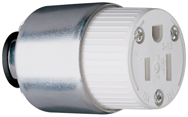 Pass & Seymour PS515CACC20 Armored Connector w/ Thermoplastic Body, 15A, 125V
