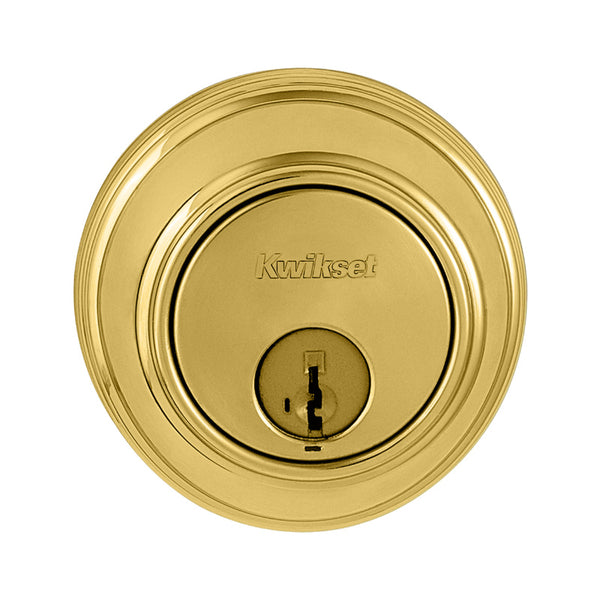 Kwikset® 816-3-RCAL-RCS Smart Key Control Single Cylinder Deadbolt, Polish Brass