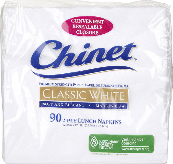 Chinet 33361 All Occasion Napkins, 2 Ply, 90-Count