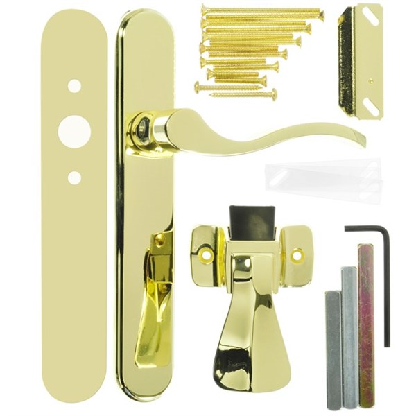 Wright Products™ VBG115PB Surface Mounted Storm Door Latch, Polished Brass