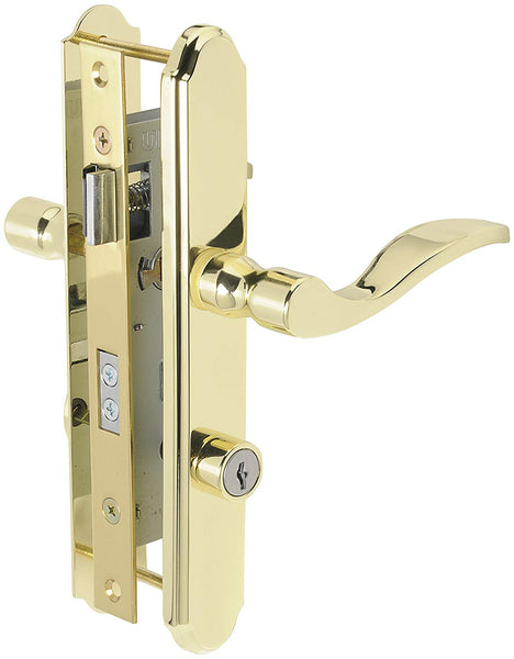 Wright Products VMT115PB Serenade Mortise Storm Door Lever Lockset, Brass