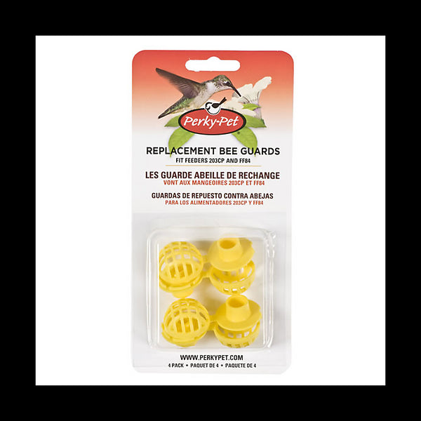 Perky-Pet® 205Y Replacement Bee Guard for Feeder #203C & #203CP, Yellow, 4-Pack