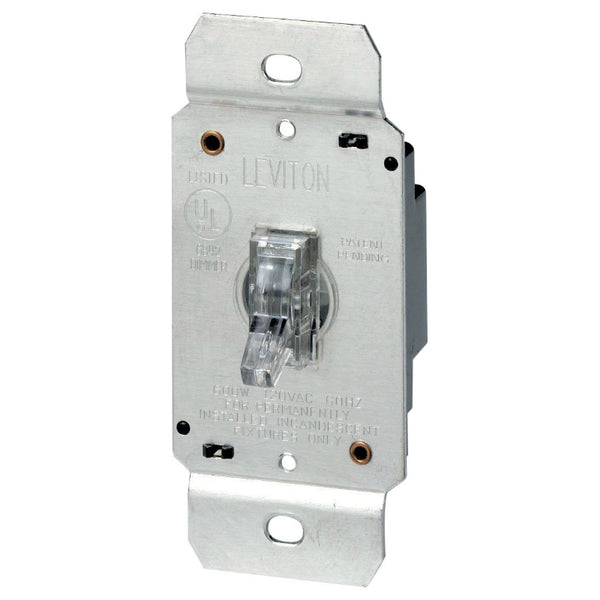 Leviton® L00-06691-000 Lighted Toggle Dimmer, Single Pole, 600W
