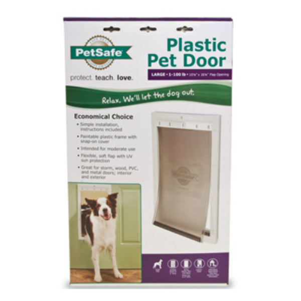 PetSafe® PPA00-10960 Plastic Frame Pet Door, Large, White