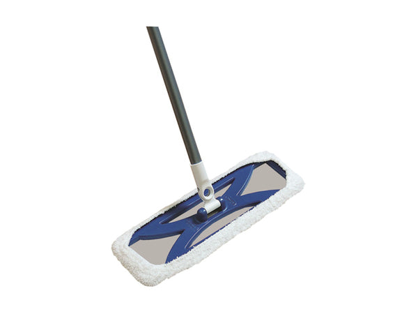 "Quickie® 076 HomePro® Hardwood Floor Mop with 48"" Handle & 360-Degree Swivel Head"