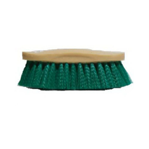 Decker 36 Aqua Teal Synthetic Bristle Finishing Brush for Horses, Tan