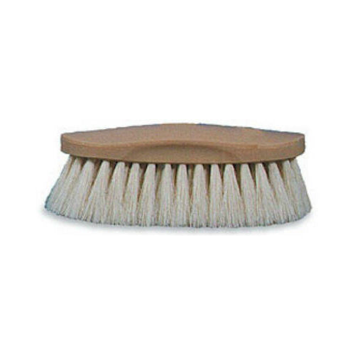 Decker 50 Soft Natural Showman Grooming Brush for Horses, White