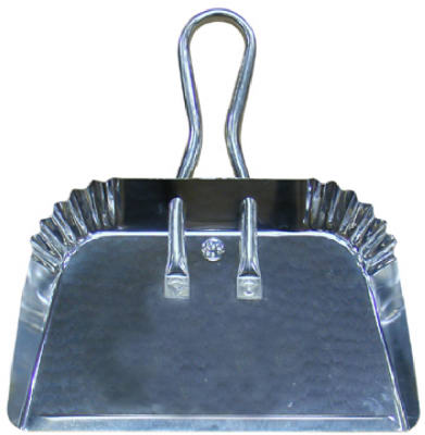 Quickie® 428 Professional Sized Dust Pan, Aluminum, 17""