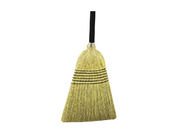 Quickie® 931-6 Heavy-Duty Natural Fiber Broom with Metal handle