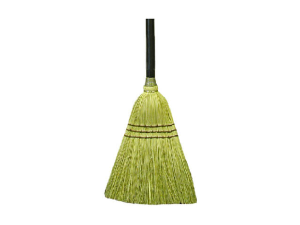 "Quickie® 934 Natural Fiber Lobby Broom, 10"", Extra-Wide"