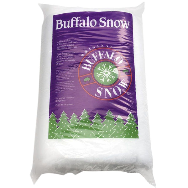 Buffalo Batt CB1339 Original Buffalo Snow Fluff for Christmas Decoration, 16 Oz