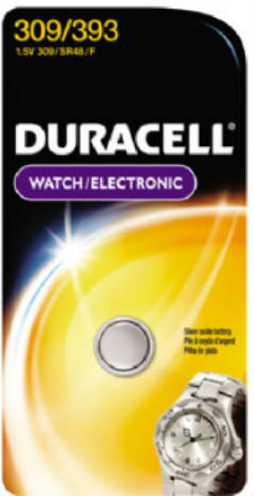 Duracell® D309/393PK Silver Oxide Watch & Calculator Battery, 1.5 Volt